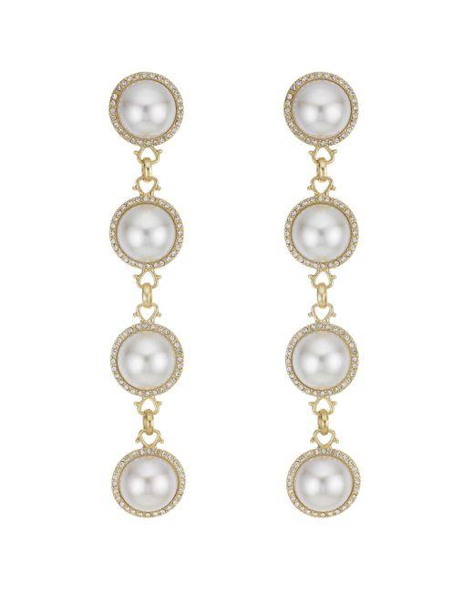 Red Herring - Metallic Oversized Pearl Drop Earrings - Lyst