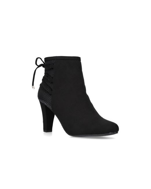 d708367a42c Carvela Kurt Geiger 'tash' Mid Heel Ankle Boots in Black - Lyst