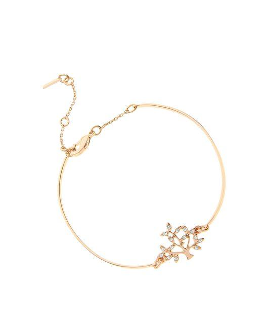 Pilgrim - Metallic Rose Gold Crystal Tree Bracelet - Lyst