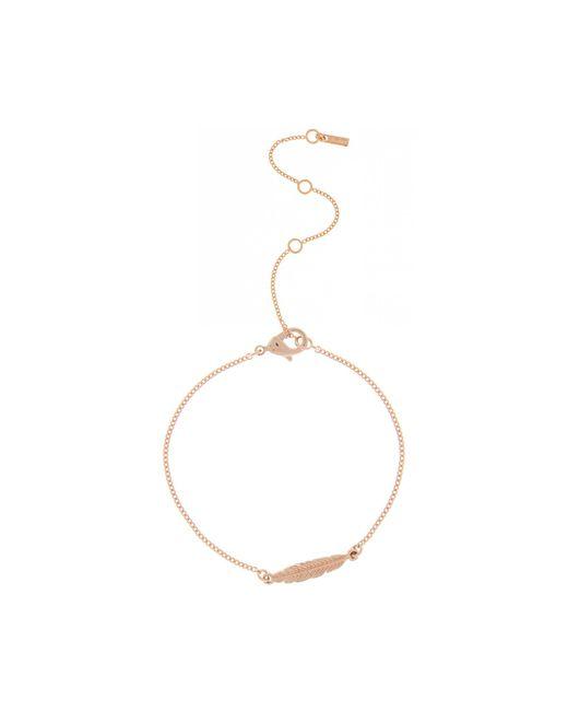 Pilgrim - Metallic Rose Gold Feather Bracelet - Lyst