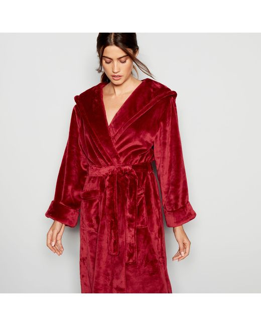 J By Jasper Conran Red Hooded Dressing Gown in Red - Lyst
