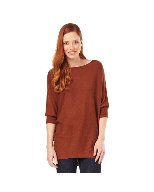 Phase Eight - Brown Tobacco Becca Batwing Jumper - Lyst