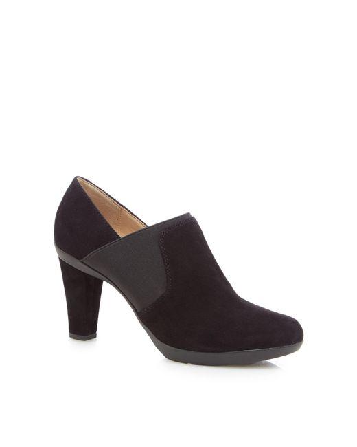 Geox - Black 'inspiration' High Block Heel Shoe Boots - Lyst