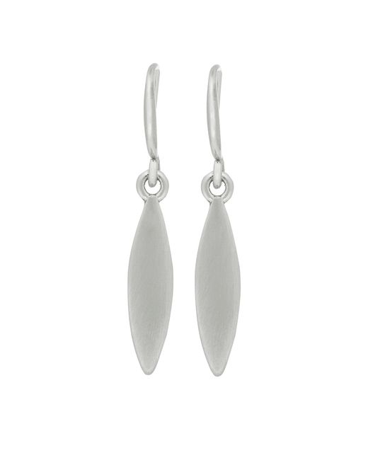 Pilgrim - Metallic Silver Plated 'luna' Drop Earrings - Lyst