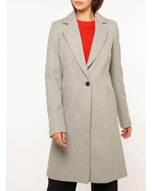Dorothy Perkins - Gray Tall Grey Coat - Lyst