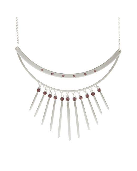 Pilgrim Metallic Plated Double Bar Necklace