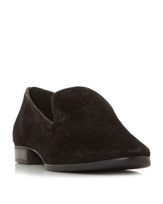 Dune - Black Suede 'galia' Loafers for Men - Lyst