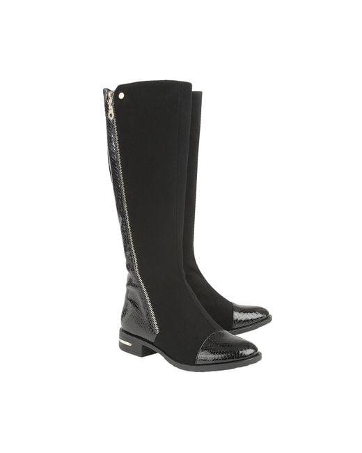 Lotus Black 'pontal' Knee High Boots