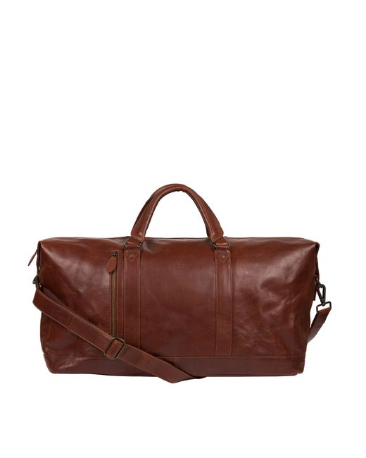Conkca London - Conker Brown 'gerson' Handcrafted Leather Holdall for Men - Lyst