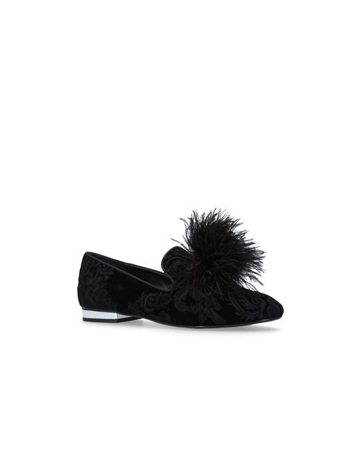 Carvela Kurt Geiger - Black Lapin Flat Slip On Loafers - Lyst
