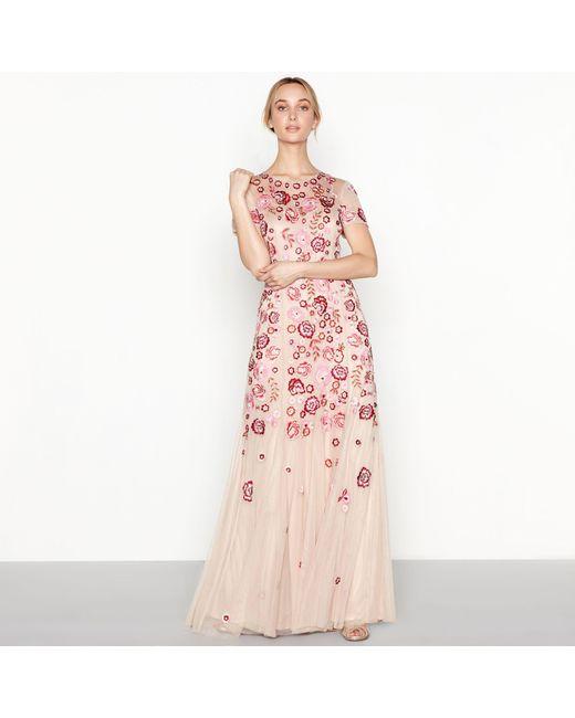 Jenny Packham Rose Floral Embroidered \'chelsea\' Round Neck Short ...