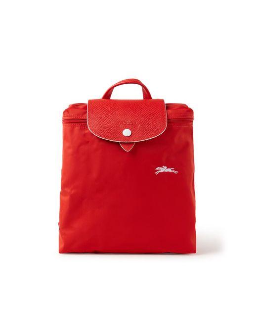 Longchamp Le Pliage Club Rugzak Met Logoborduring in het Red