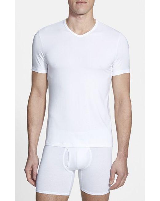 Naked | White 'luxury' Micromodal Blend V-neck T-shirt for Men | Lyst