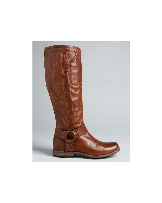 frye phillip harness boots in black lyst