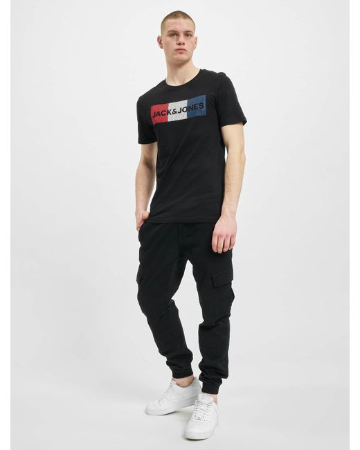 Jack & Jones Männer T-Shirt jjeCorp Logo Noos in Black für Herren