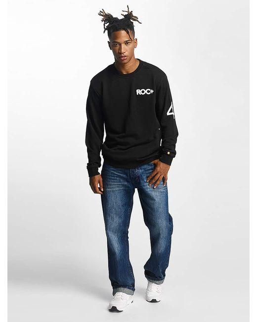 Rocawear Männer Pullover Retro Sport Crew Neck in Black für Herren