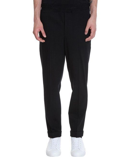 Pantalone in Lana Nera di Neil Barrett in Black da Uomo