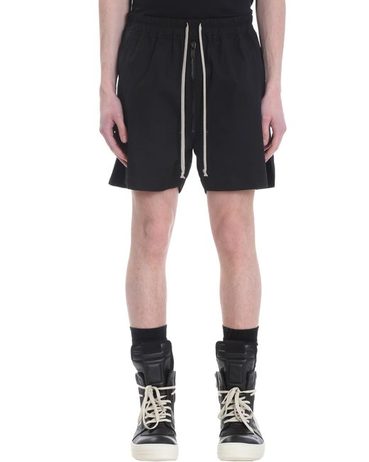 Shorts Bela boxers in Cotone Nero di Rick Owens in Black da Uomo