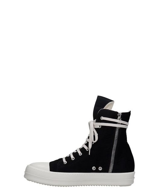 Sneakers in Cotone Nero di Rick Owens Drkshdw in Black da Uomo