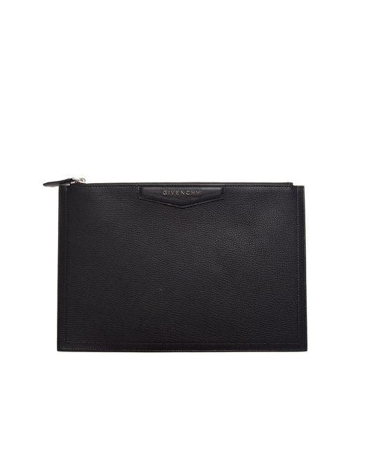 Givenchy | Black Antigona Medium Leather Clutch | Lyst