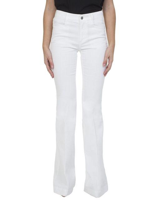 Stella McCartney | White Denim Flared Trousers | Lyst