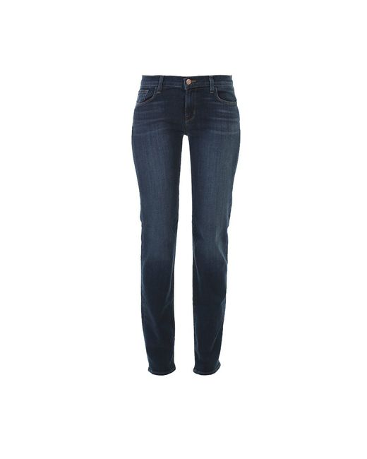 J Brand | Blue Stretch Washed Denim Jeans | Lyst