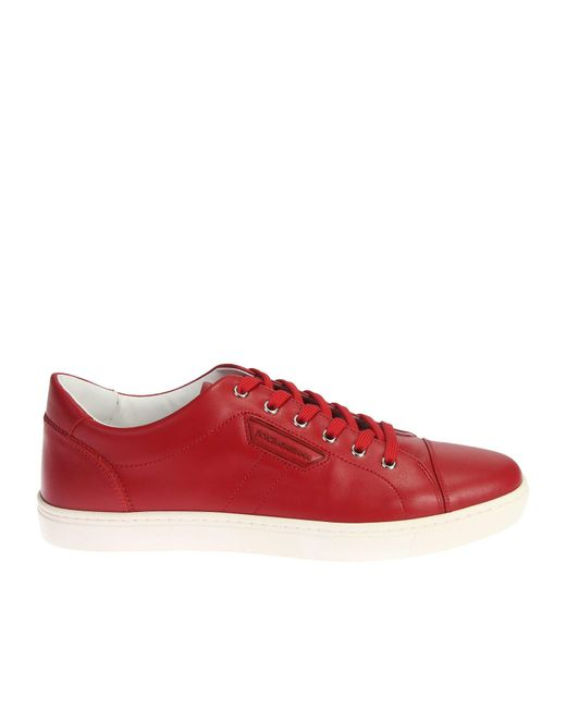 Dolce & Gabbana | Red Leather Sneakers for Men | Lyst