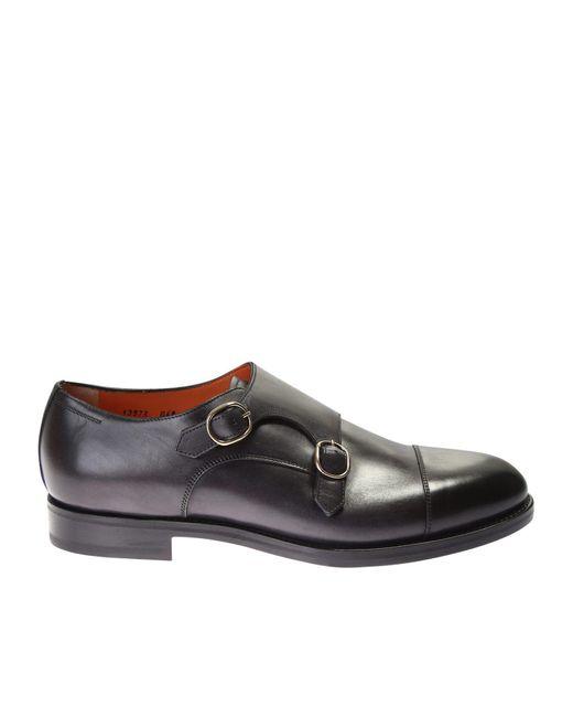 Santoni | Multicolor Leather Buckle Strap Monk Shoes for Men | Lyst