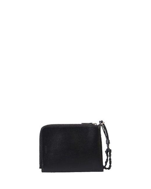 Jil Sander Black Leather Wallet for men