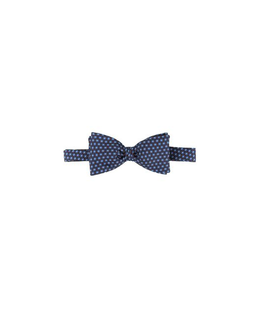 Dell'Oglio | Brown Silk Bow-tie, Contrast Blue And Light-blue Polka Dots for Men | Lyst