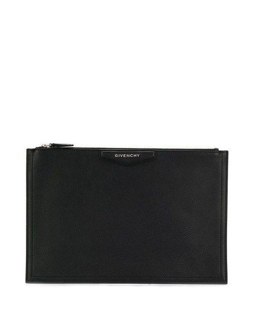 Pochette Antigona grande di pelle di Givenchy in Black
