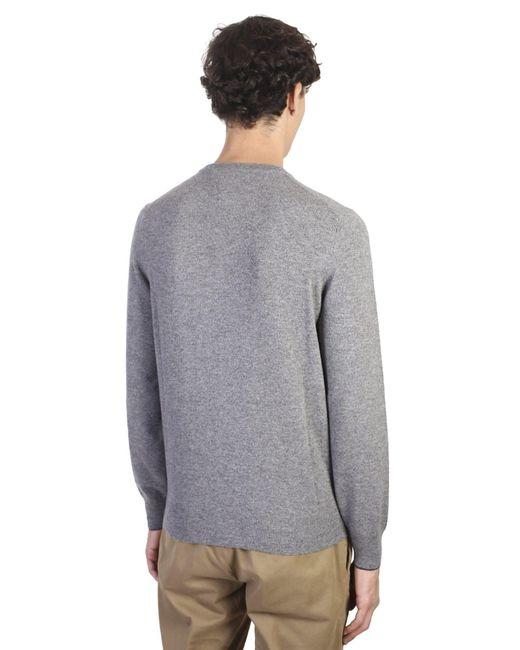 Brunello cucinelli Dark Grey Cashmere Sweater in Gray for Men ...