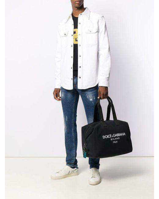 Dolce & Gabbana Black Logo Print Holdall for men