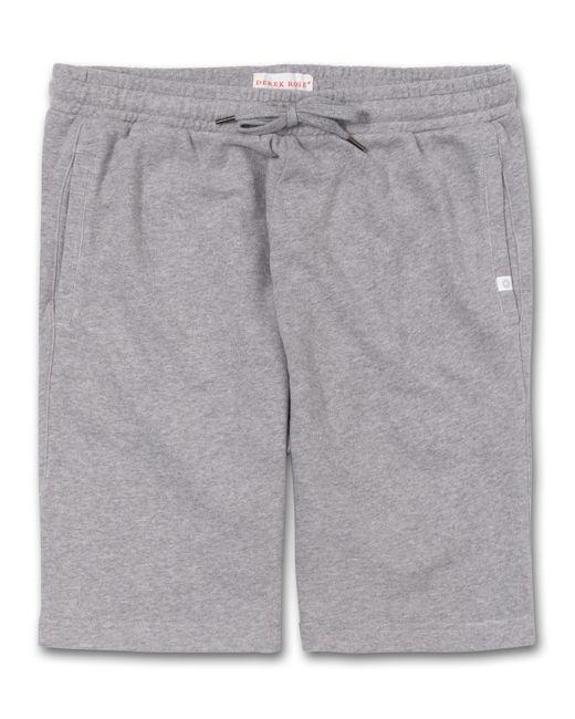 Derek Rose Metallic Sweat Shorts Devon Loopback Cotton Silver for men