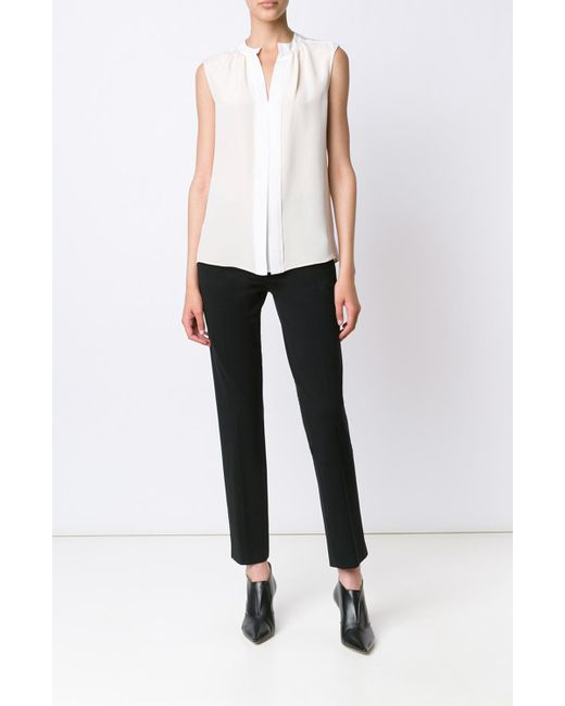 Derek Lam | Natural Kara Sleeveless Blouse | Lyst