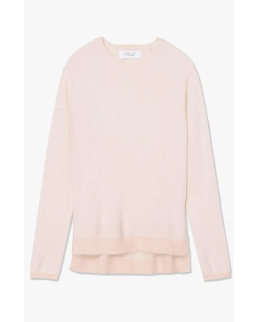 Derek Lam   Pink Longsleeve Crewneck Sweater   Lyst