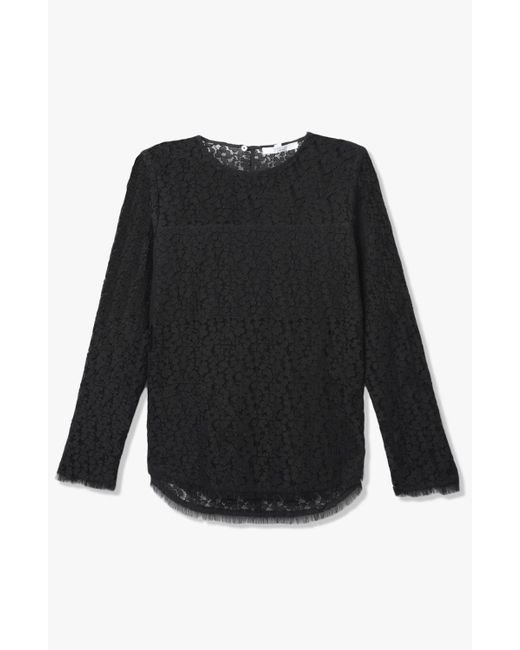 Derek Lam | Black Lace Blouse | Lyst