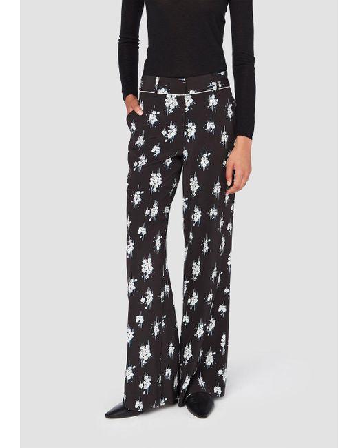 Derek Lam   Black Printed Pajama Trousers   Lyst