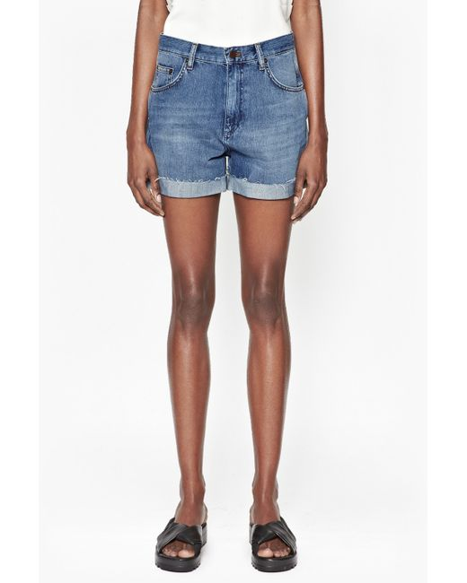 French connection Cut-off Denim Shorts in Blue (Ripped Bleach) - Save 65% | Lyst