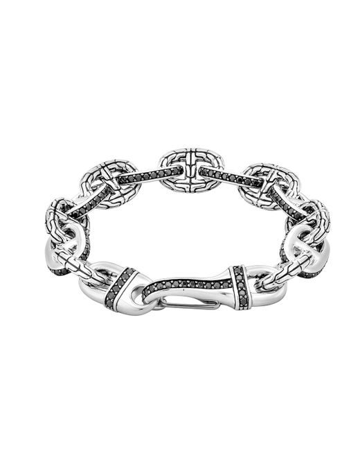 John Hardy   Metallic Black Sapphire Rode Link Bracelet   Lyst