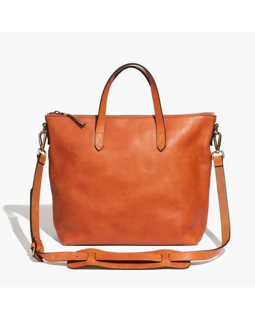 Madewell | Brown The Transport Satchel | Lyst
