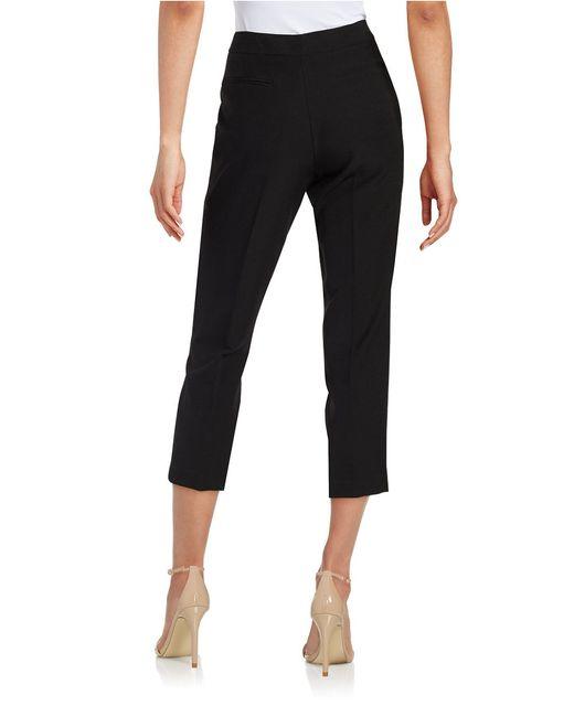 Anne Klein | Black Flat-front Pants | Lyst