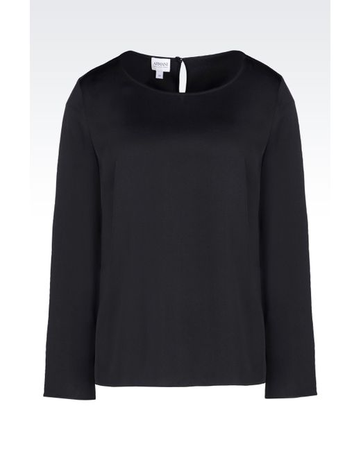 Armani   Gray Long Sleeve Shirt   Lyst