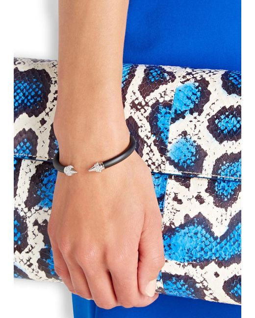 Vita Fede | Metallic Mini Titan Black Twin Spike Bracelet | Lyst