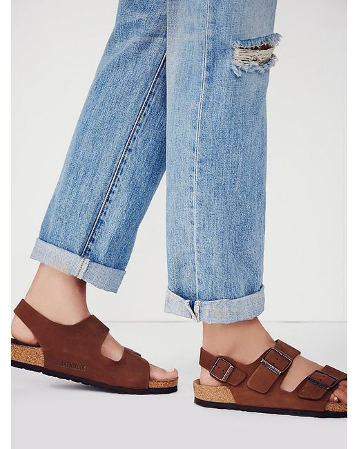 Free People | Brown Milano Birkenstock | Lyst