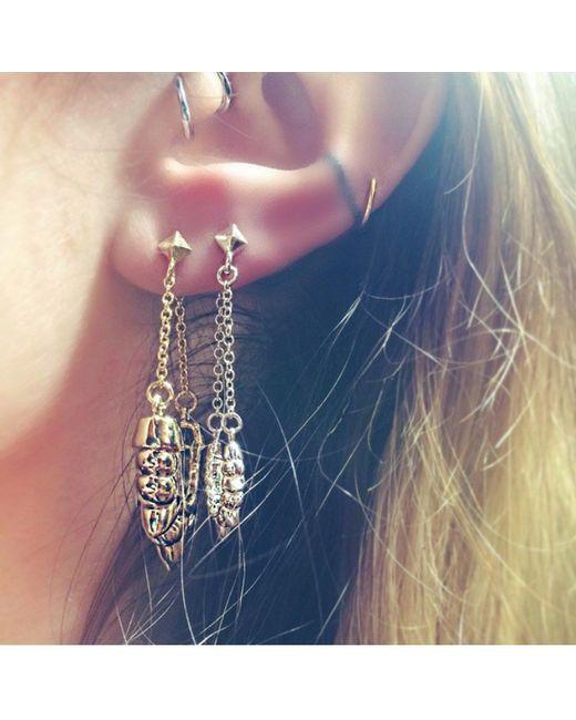 Pamela Love   Yellow Chain Earrings   Lyst