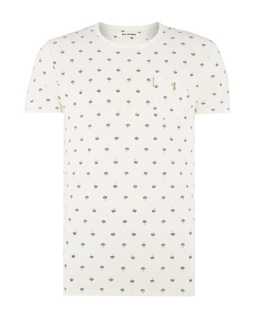 Ben Sherman | White Umbrella Print Tee for Men | Lyst