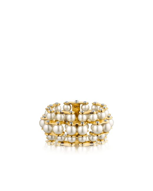 Louis Vuitton | Metallic Lv Speedy Pearls Three-rank Bracelet | Lyst