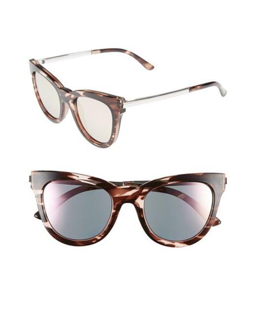 Le Specs | Pink 'le Debutante' 51mm Cat Eye Sunglasses | Lyst