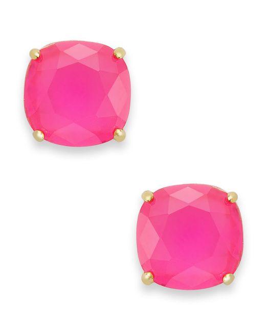 Kate Spade | Pink Square Stud Earrings | Lyst